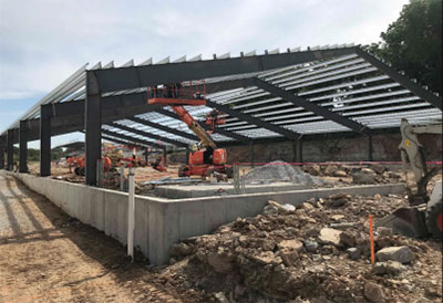 Arena structural steel completed