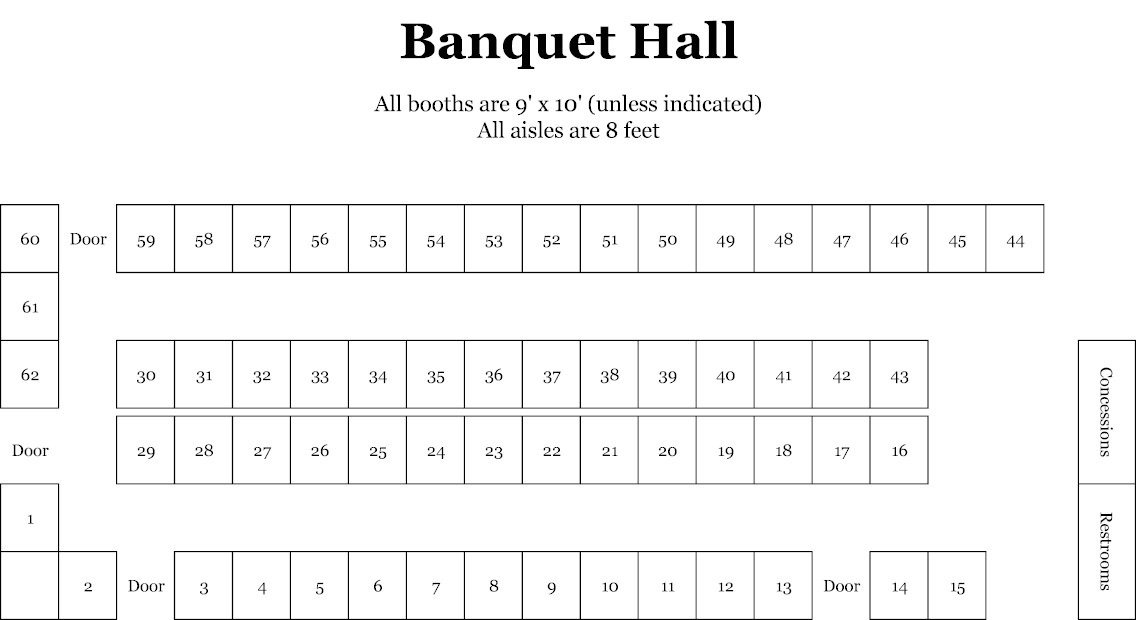 The fairgrounds nashville layouts and floorplans for Banquet hall designs layout